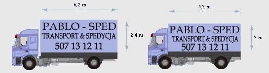 Pojazd 15-paletowy i Pojazd 8-paletowy